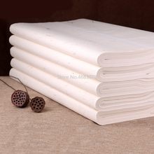 100 แผ่นแบบดั้งเดิม Xuan กระดาษจีนกึ่งดิบข้าวกระดาษภาพวาดอุปกรณ์การประดิษฐ์ตัวอักษร