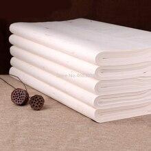 100 arkuszy tradycyjny papier Xuan chiński półsurowy papier ryżowy malarstwo kaligrafia dostaw