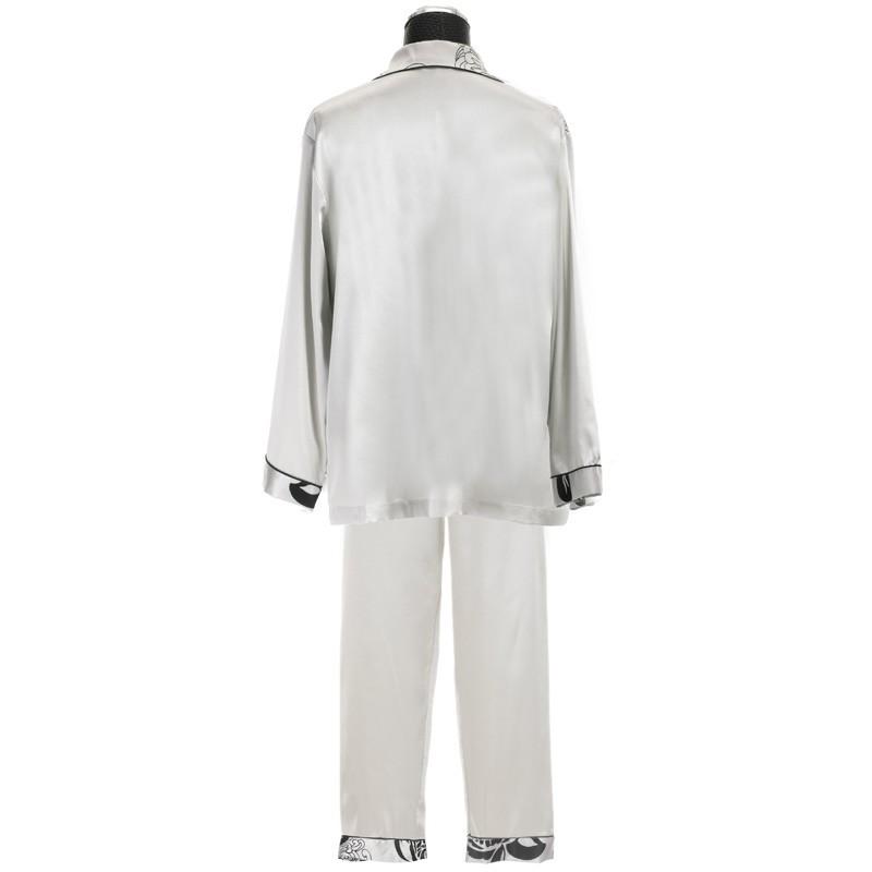men\'s satin pajamas set, couples matching satin pajamas sets, men\'s silk pyjamas home clothes