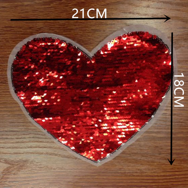Счастливые дни красный щепка патч флип Двусторонняя цветная Дело обратимые блесток патчи для одежды Бесплатная доставка