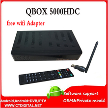 Singapour set top box qbox hdc5000 St ** rhub noir boîte HD Câble TV Récepteur QBOX 5000HDC vs qbox hd récepteur football CH N3