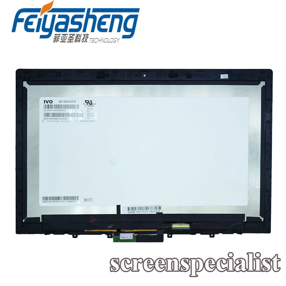 100% Original LCD For Lenovo L380 02DA316 LCD Screen Display Assembly M133NWF4 with Frame/Bezel