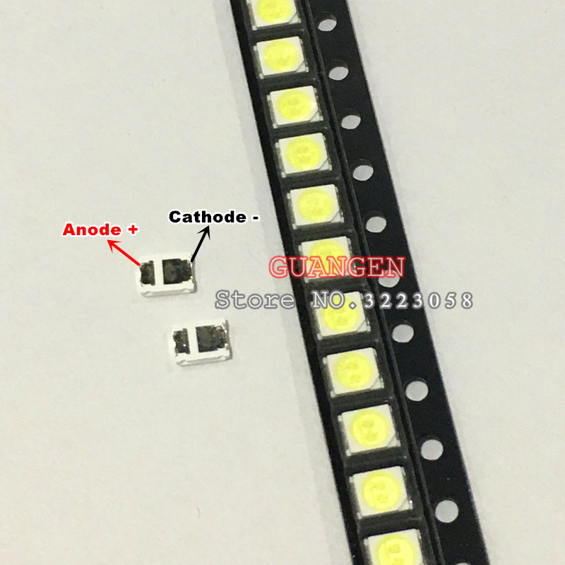 100pcs FOR maintenance Konka Changhong Amoi LCD TV backlight LED strip lights with the East Bay 2835 SMD LED beads 1W 6V 3528 100pcs lot 3528 2835 3v smd led beads 1w cold white 100lm for tv lcd backlight
