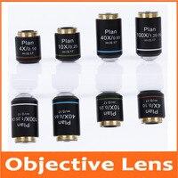 4X 10X 40X 100X Plano Infinity Acromática Lente Objetiva para Microscópio Biológico Educacional Olympus Biomicroscópio 20.2mm|Peças e acessórios p/ microscópio| |  -