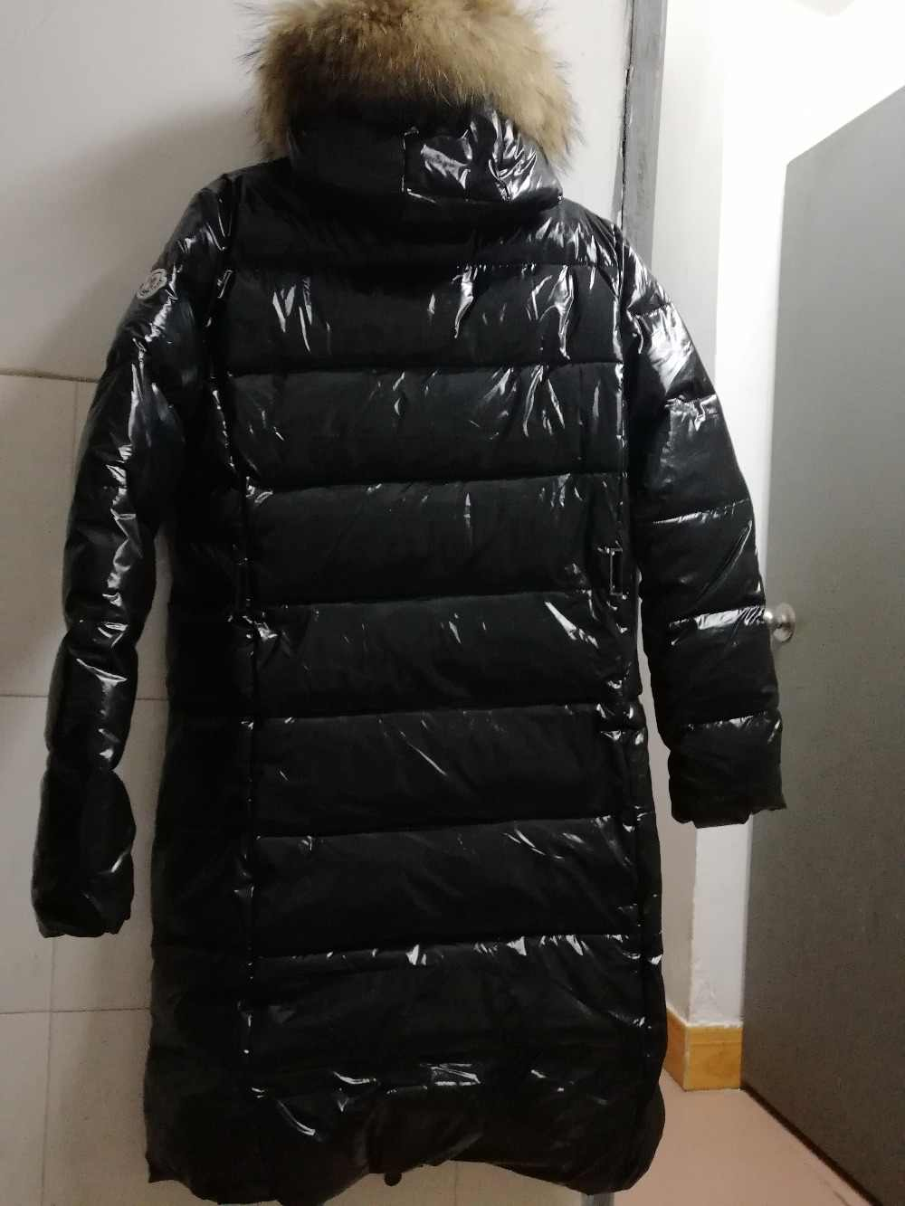 נשים חורף מעיל מעיל אמיתי דביבון פרווה הוד אופנה ארוך מעיל לעבות חם רך מעיל עם חגורה שחור