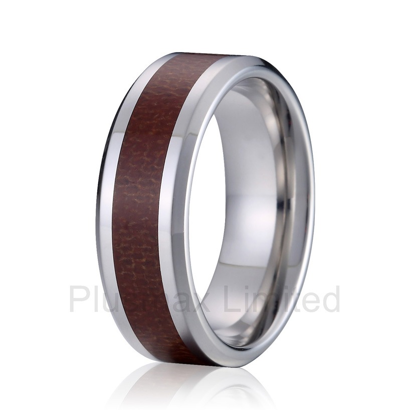 anel expression of commitment matching titanium steel wood style 8mm wedding band anniversary couples rings anel feminino cheap pure titanium jewelry wholesale a lot of new design cheap pure titanium wedding band rings