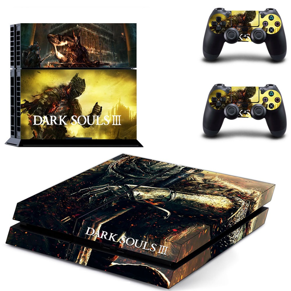 DARK SOULS III Decal Sticker PS4 Skin Stickers For Sony PlayStation 4 Console And Remote Controller