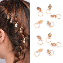 Sale 1Set Fashion Star Leaves Braided bride hair Rope Kids Girls Silver Gold Hairpin Compiled punk style Hair Accessories