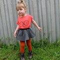Verão Bebés Meninos Camisetas Óculos Vermelhos Impresso Algodão de Mangas Curtas T-shirt Macio Meninas Do Bebê Camiseta Crianças Roupas Top Infantil