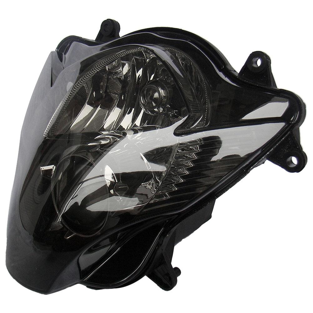 Motorcycle Smoke Headlight Head light for Suzuki GSXR 600 750 K6 2006 2007 Black Color, Aftermarket Accessories hot sales for suzuki gsx r 600 750 k6 2006 2007 parts gsxr 600 750 06 07 red black aftermarket fairing kit injection molding