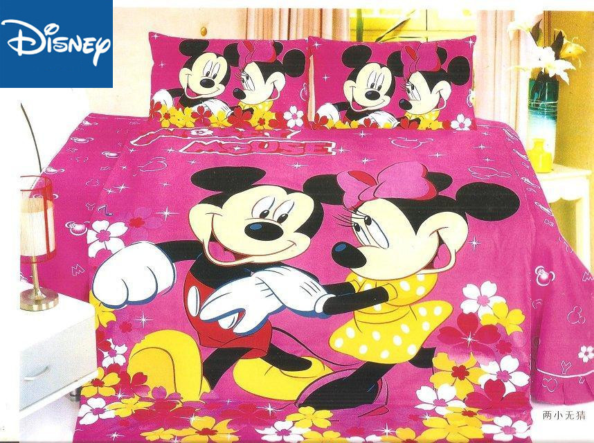Disney Mickey And Minnie Mouse Bedding Set For Children Bed Decor Single Size Quilt Covers Twin Bedspread 2-4 Pcs Free Shipping