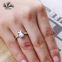 Sona NOT FAKE Fine Engraving Ring S925 Sterling silver Diamond Solitaire ring Original Design 925 4 claws emerald cut