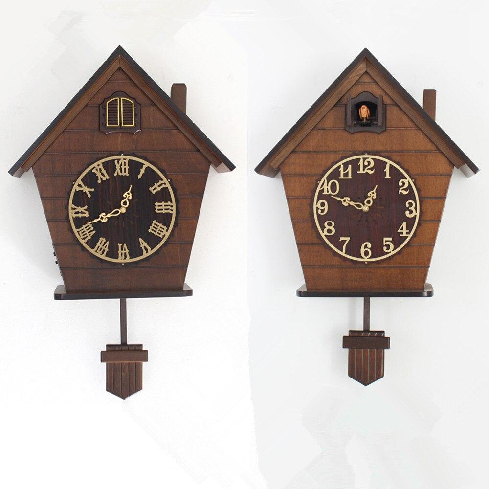 European wood Cuckoo wall clock quartz timekeeping clock Vintage Antique clockEuropean wood Cuckoo wall clock quartz timekeeping clock Vintage Antique clock