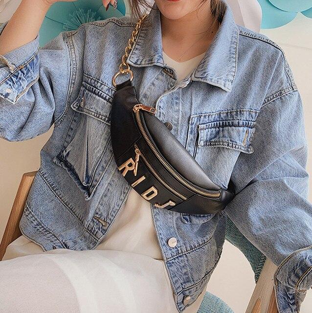 Женская поясная сумка, сумка на пояс из искусственной кожи с цепочкой, поясная сумка Bananka, дорожная сумка для отдыха, женская сумка для подиума, поясная сумка