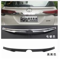 car ABS CHROME PAINT CRA REAR WING TRUNK LIP SPOILERS FIT FOR 16 2018 Toyota Fortuner 2016 2017 2018