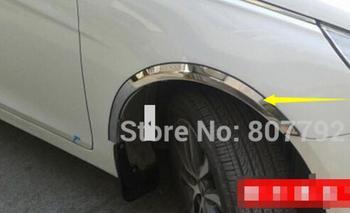 steel wheel well molding trim wheel fender trim exterior accessories For HYUNDAI VERNA SOLARIS 2010-2011 stainless 4pcs/set