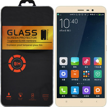 Retail Package For Xiaomi Redmi Note 3 pro Glass For Redmi Note 4 Glass 9H 2