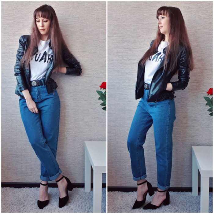 Dunayskiy Autumn jeans women Fashionable Blue High Waist Loose Denim Jeans Female Harem Pants Trousers boyfriend jeans for women 2