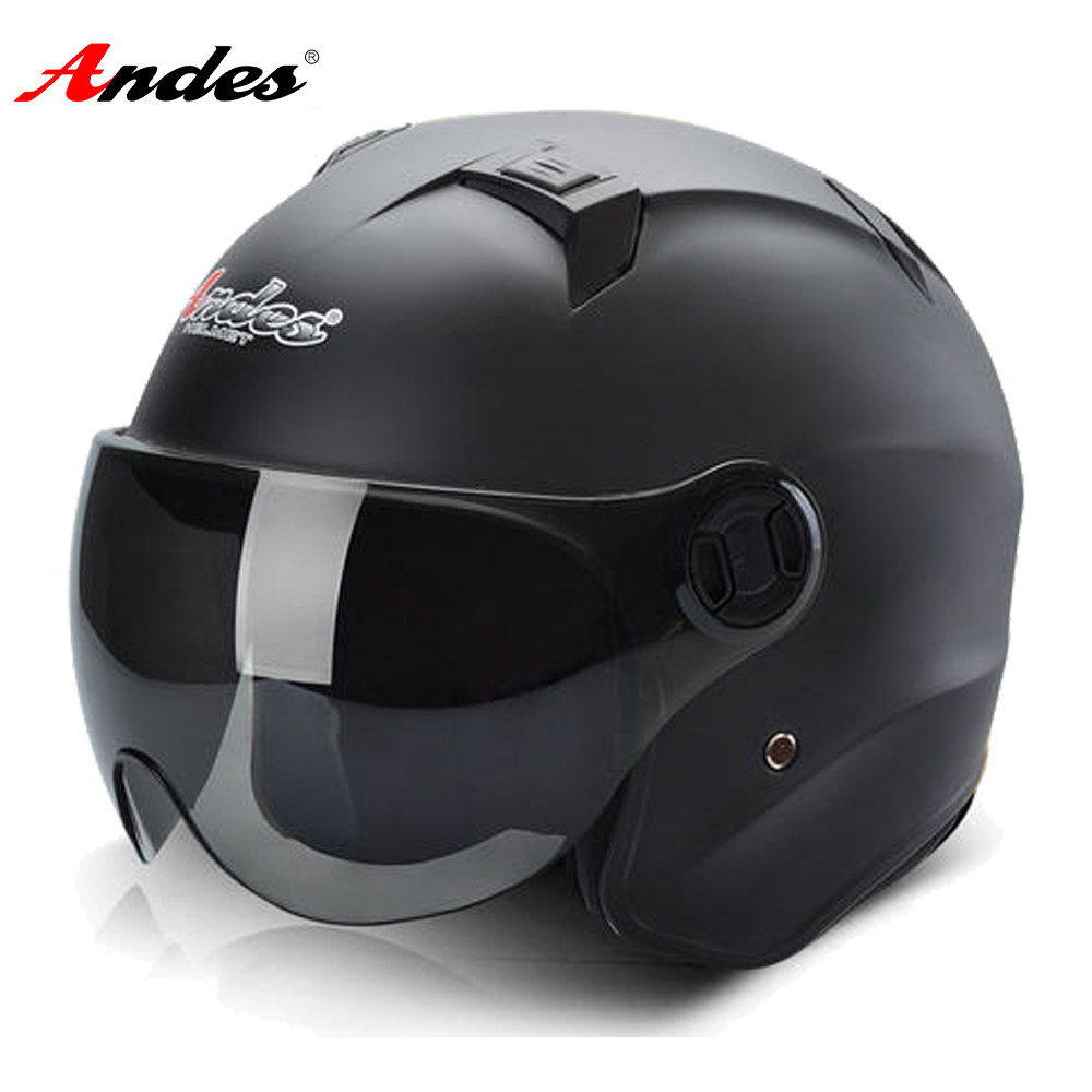 Andes Motorcycle Helmet Motocross Helmet Summer Scooter 3/4 Open Face Motorbike Moto Helmets Flip Up Visor Lense for Men Women