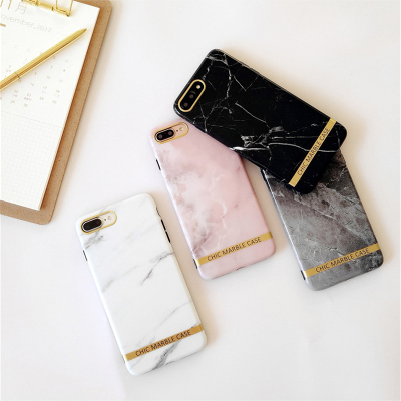 Luxury hot Shinny Marble TPU Case For iphone X 7 7Plus for iphone 6 6s 6Plus 8 8plus Glossy TPU case back cover Protective shell