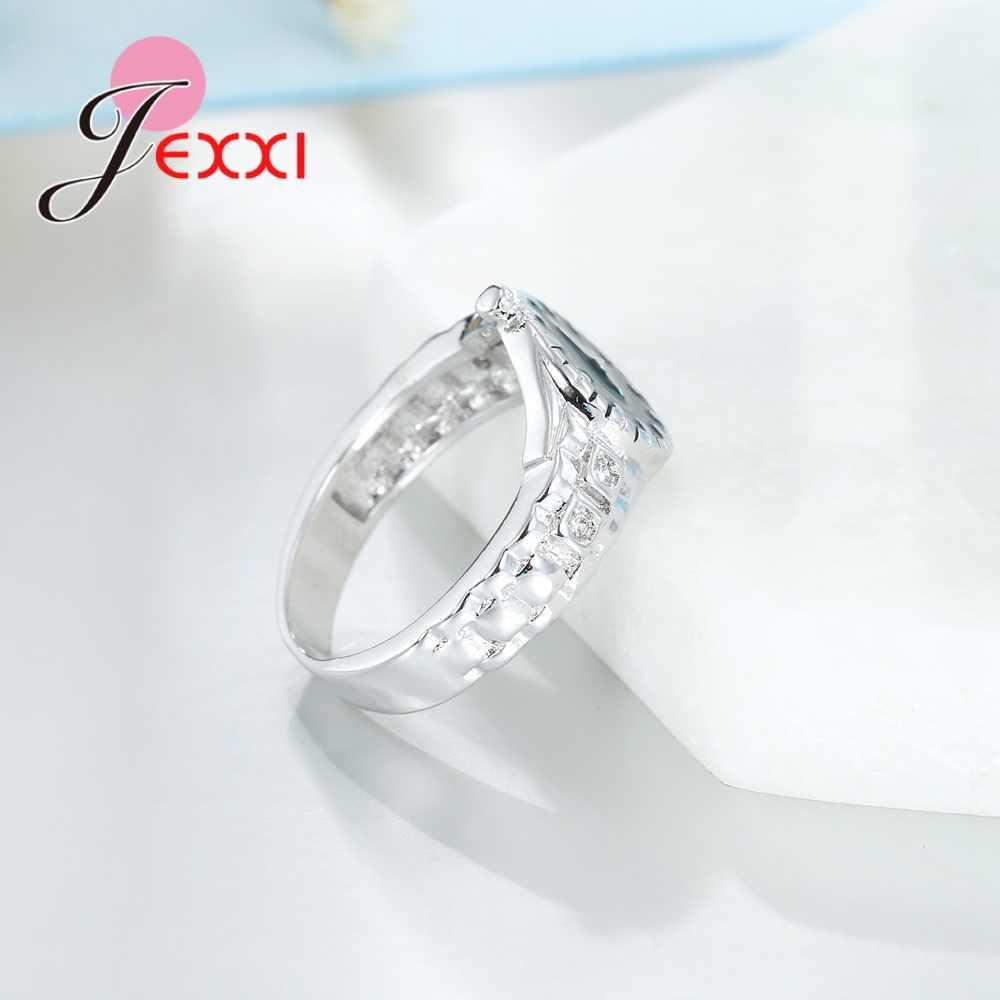 925 en argent Sterling montre anneau de mariage bandes montre anneau, décontracté hommes et femmes bijoux Cool sportif accessoire