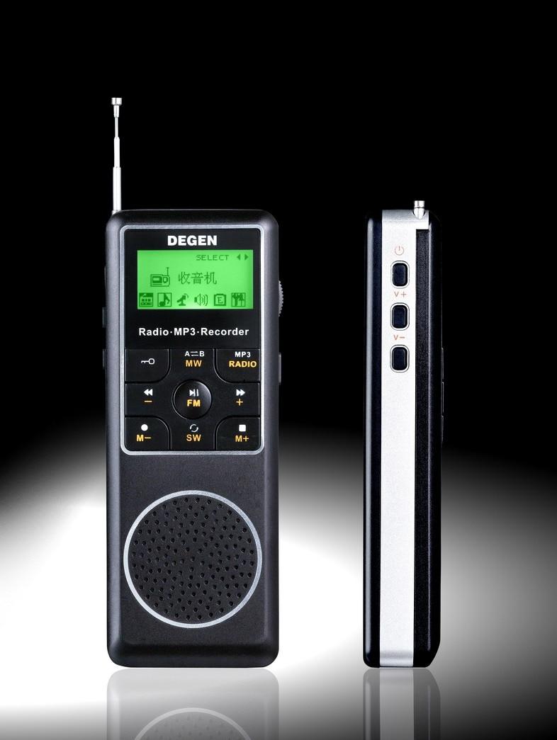 degen de1127 fm mw sw am portable pocket mini digital recorder dsp stereo radio 4gb mp3 player. Black Bedroom Furniture Sets. Home Design Ideas