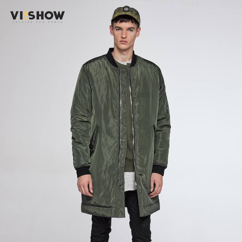 VIISHOW Winter Parka Jacket Men Army Green Coats Slim Fit Solid Down Jacket Casual Brand Jacket Men Clothing MC37764