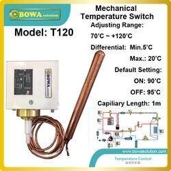 Niezawodne mechaniczne regulacja temperatury (70 ~ 120' c) przełączniki jest zainstalowany w płyn wtrysk i EVI rurociągów w pompy ciepła|switch linksys|switch waterproofpump actuator -