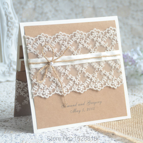 Vintage Card Handmade Craft Paper Wedding Invitation Rsvp Envelope Free Print In Cards Invitations From Home Garden On Aliexpress Alibaba