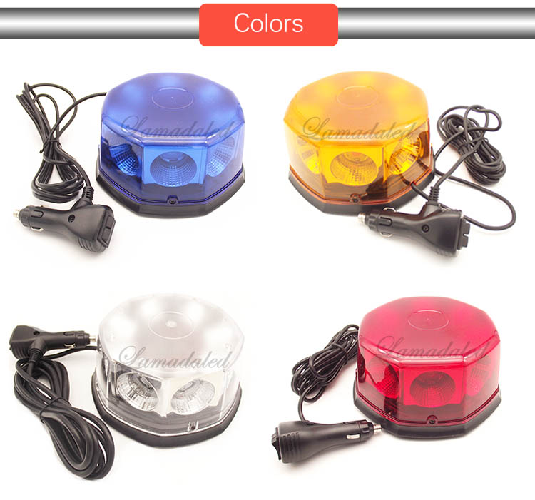 Image 5 - 12V24V super bright blue 40W police led strobe lights beacon with magnetic for ambulance fire truck stroboscope warning lamp-in Car Light Assembly from Automobiles & Motorcycles