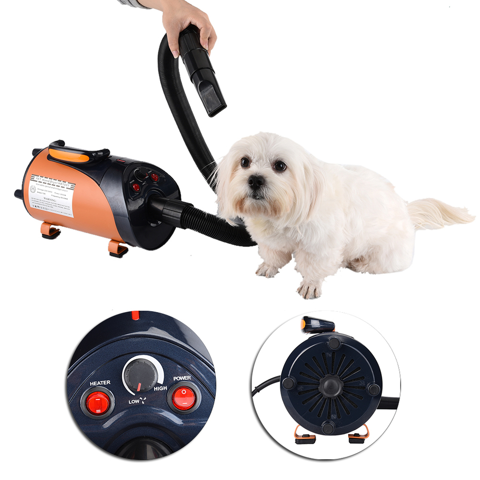 Quiet Hair Dryer With Nozzle for Pets Dog Cat Pet Force Dryer Heater Work For Villus Moisture Ash Layer And Debris pet dryer plastic hair trimmer comb for pets dog cat green