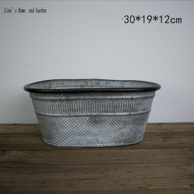 US $13.35 |handmade retro distressed oval antique zinc planter pot-in on bucket planters, round corrugated planters, urn planters, stone planters, lead planters, resin planters, iron planters, aluminum planters, tall planters, long rectangular planters, window boxes planters, stainless steel planters, corrugated raised planters, old planters, chrome planters, plastic planters, pewter planters, large planters, copper finish planters, wall mounted planters,