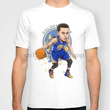 49692e033 man t-shirt Stephen Curry cartoon fashion short-sleeve casual t-shirt loose