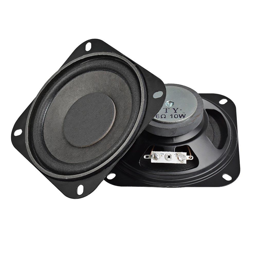 AIYIMA 2Pcs 4Inch Portable Audio Speaker Subwoofer 6Ohm ...