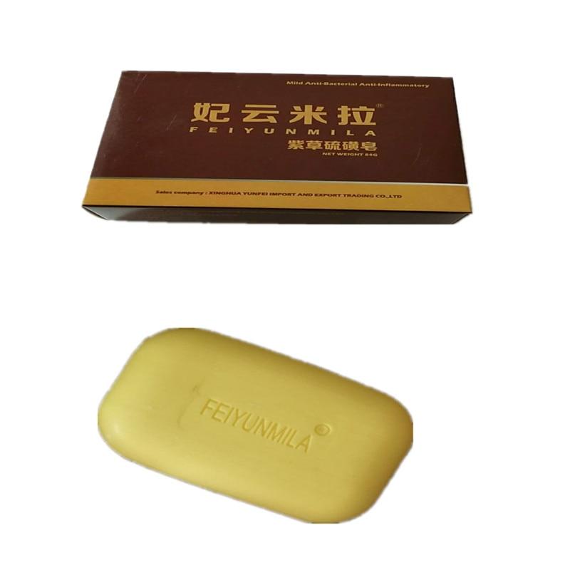 3PCS FEIYUNMILA  Sulfur Soap Skin Conditions Acne Psoriasis Seborrhea Eczema Anti Fungus Bath whitening soap shampoo soap making