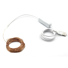 33FT 10M USB Outdoor Waterproof Led Copper Wire String Lights Christmas Festival Wedding Party Garland Decoration Fairy Lights