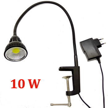 110V/220V 10W Led Flexible Pipe Desk Lamp With Clamp