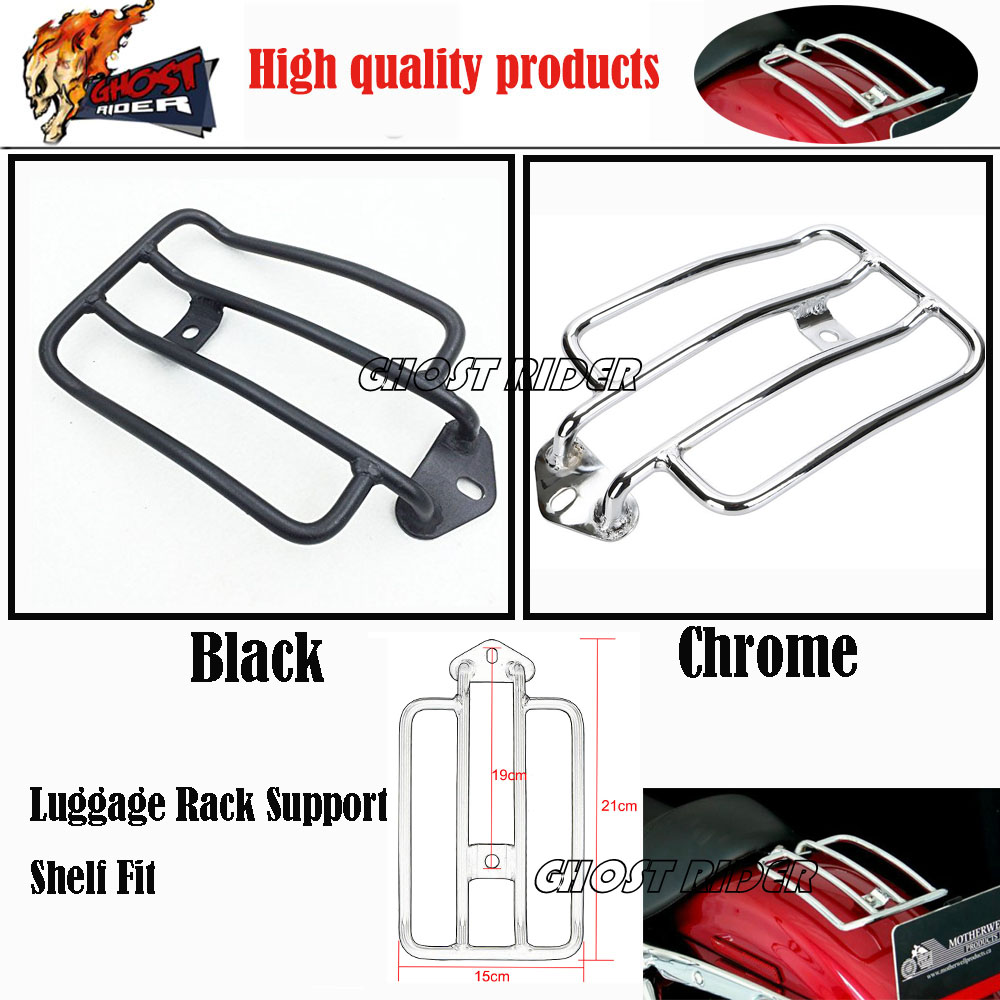 Motorcycle Luggage Rack Support Shelf Fit fits for Stock Solo Seat Harley Sportster XL883 XL1200 2004-2012 Luggage Carrier Chrom luggage rack