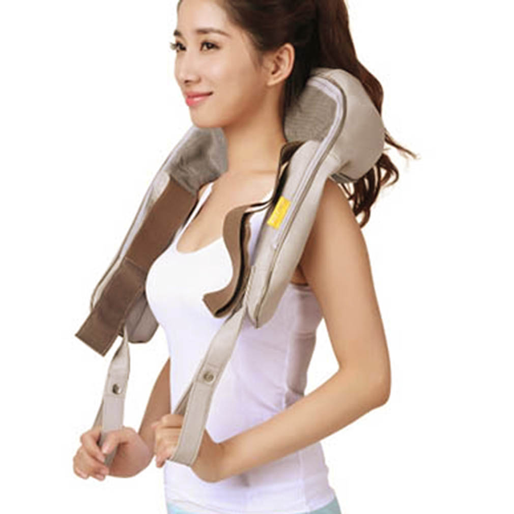 Hot Multifunction Heating Neck Shoulder Body Massage Health Care Pillow Professional Home Car Office Acupuncture Kneading hot selling free shipping bone shape massage pillow relax car massage pillow