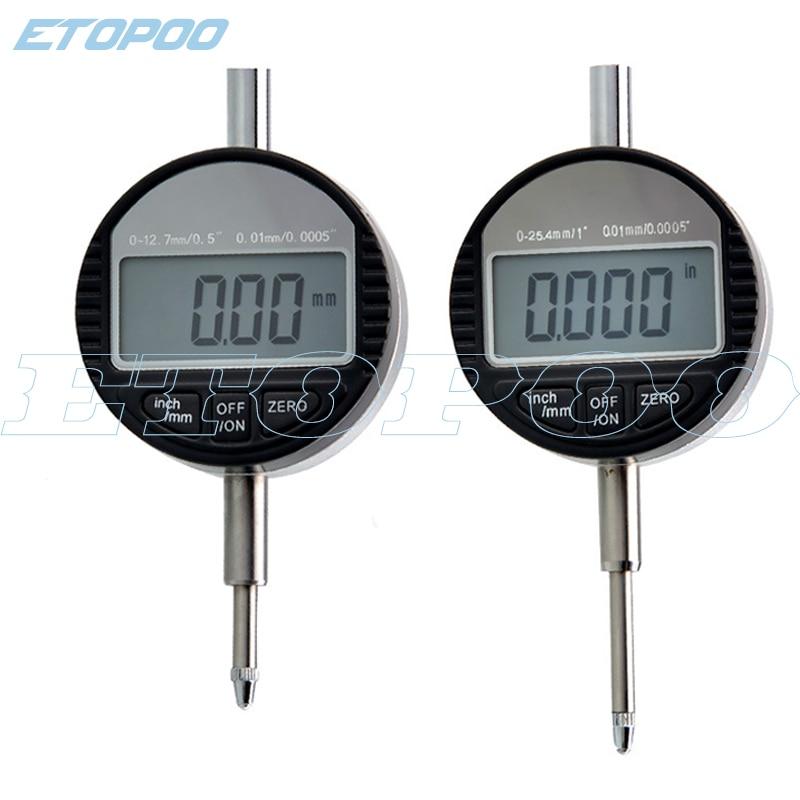 Цифровой микрометр, электронный измеритель, Размеры 0-12,7 мм/0-25,4 мм/0,001 мм/0,00005 дюйма, 4 размера