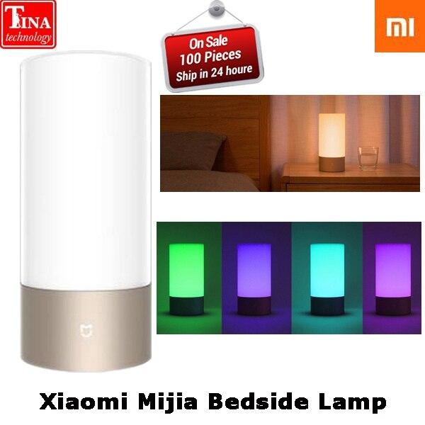100 Original Xiaomi Mijia Yeelight Night LED Smart Lights Indoor Bedside Lamp Remote Touch Control Smartphone