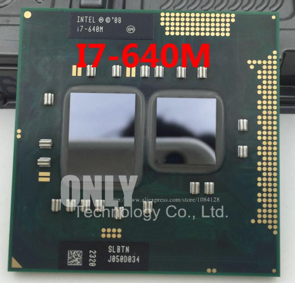 Original Core i7-640m процессор (4 м Кэш, 2.8 ГГц ~ 3.46 ГГц, i7 640 м, slbtn) TDP 35 Вт PGA988 ноутбука Процессор Совместимость HM55 HM57 QM57