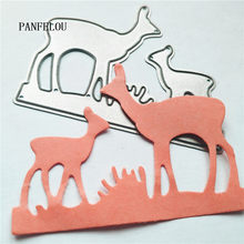 PANFELOU Deer mother and son metal craft paper die cutting dies Scrapbooking/DIY Easter wedding Embossing mould cards(China)