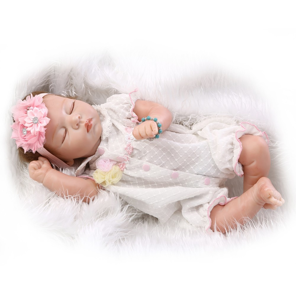 NPKCOLLECTION reborn doll with soft real gentle touch Handmade new design  22inch  soft body  lifelike soft silicone vinyl 2017 new design reborn sweet baby doll soft real gentle vinyl silicone touch body and wig hair