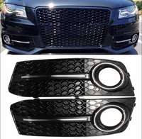 Glossy Fog Light Cover Standard Style Grille Grill For Audi A4 B8 2009 2010 2011 Chrome Glossy S Line Style Car Styling