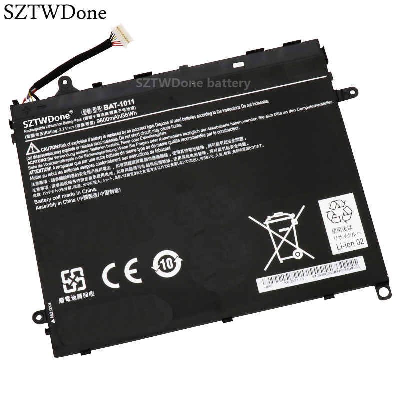 SZTWDone New BAT 1011 Tablet battery for ACER Iconia Tab A510 A700 A701 1ICP5/80/120 2 BT0020G003 3.7V 9800MAH 36WH-in Laptop Batteries from Computer & Office