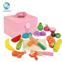 Новый кампешевого деревянный имитации реальной жизни классический кухонные игрушки резка фруктовых и овощных игрушек Обучение маленьких