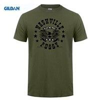 GILDAN t-shirts heren Leisure Nashville Kut Rock N Roll Band Logo zwarte van nice voor guys uniform