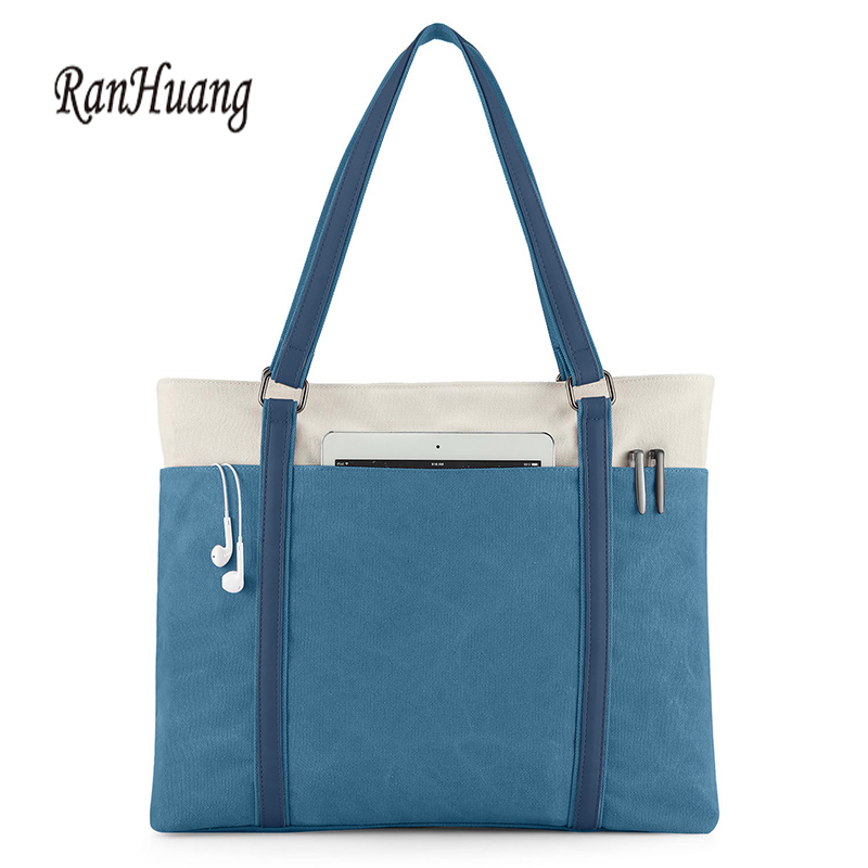 RanHuang Women Large Tote Bags High Quality Canvas Handbags School Shoulder Bags For Teenage Girls Fashion Ladies Travel Bags