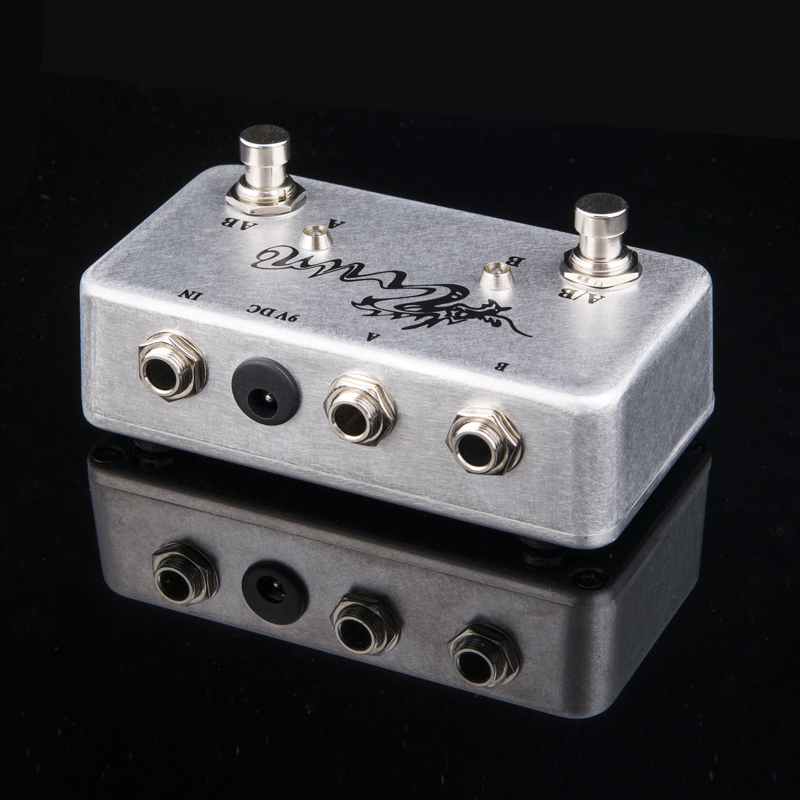 hand made aby pedal guitar switch box true bypass amp guitar ab y in guitar parts. Black Bedroom Furniture Sets. Home Design Ideas